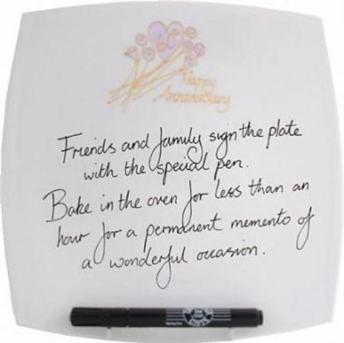 60th Wedding Anniversary Plate Square Flower