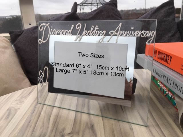 60th Anniversary Land Picture Frame Milestone