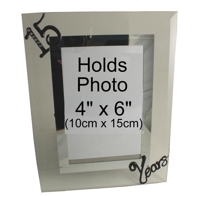 15 Years Wedding Anniversary Photo Frame Port (Crystalled)