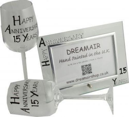 15th Wedding Anniversary Gift Set Blk/Sil