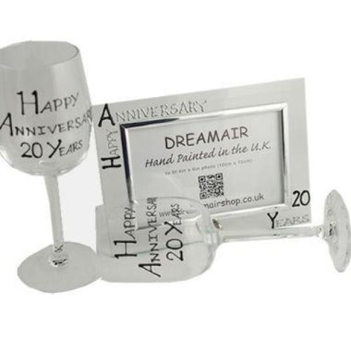 20th Wedding Anniversary Gift Set Blk/Sil