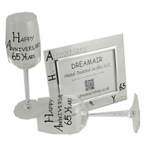 65th Wedding Anniversary Gift Set Blk/Sil