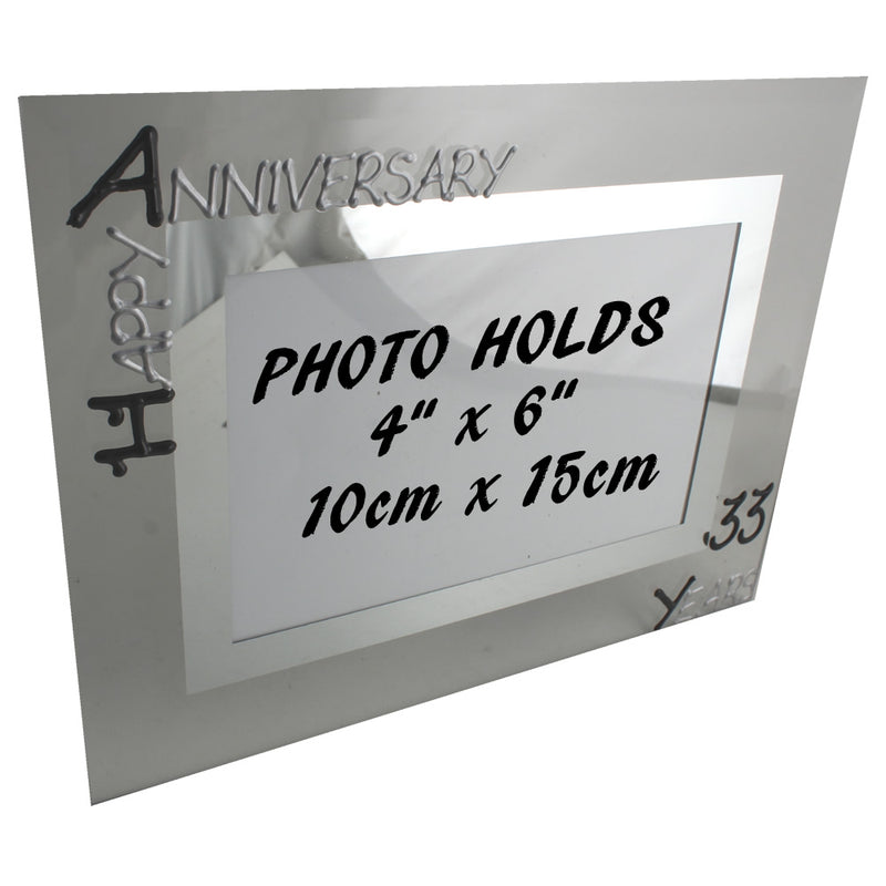 33rd Wedding Anniversary Gift Photo: Frame Landscape (Blk/Sil)