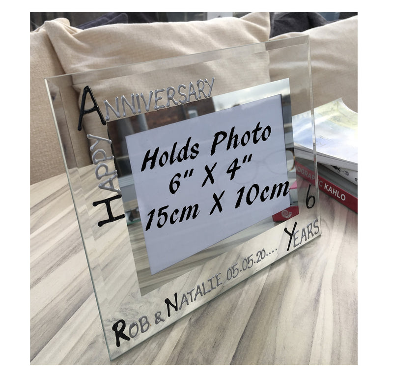Personalised 6th Anniversary Picture frame Land B/S
