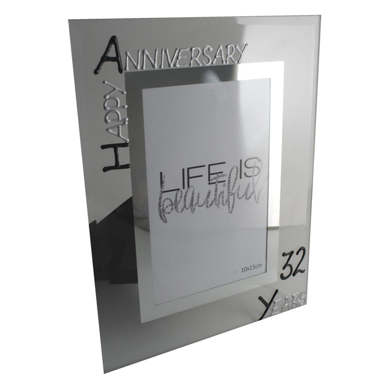 32nd Wedding Anniversary Photo Frame Port Blk/Sil