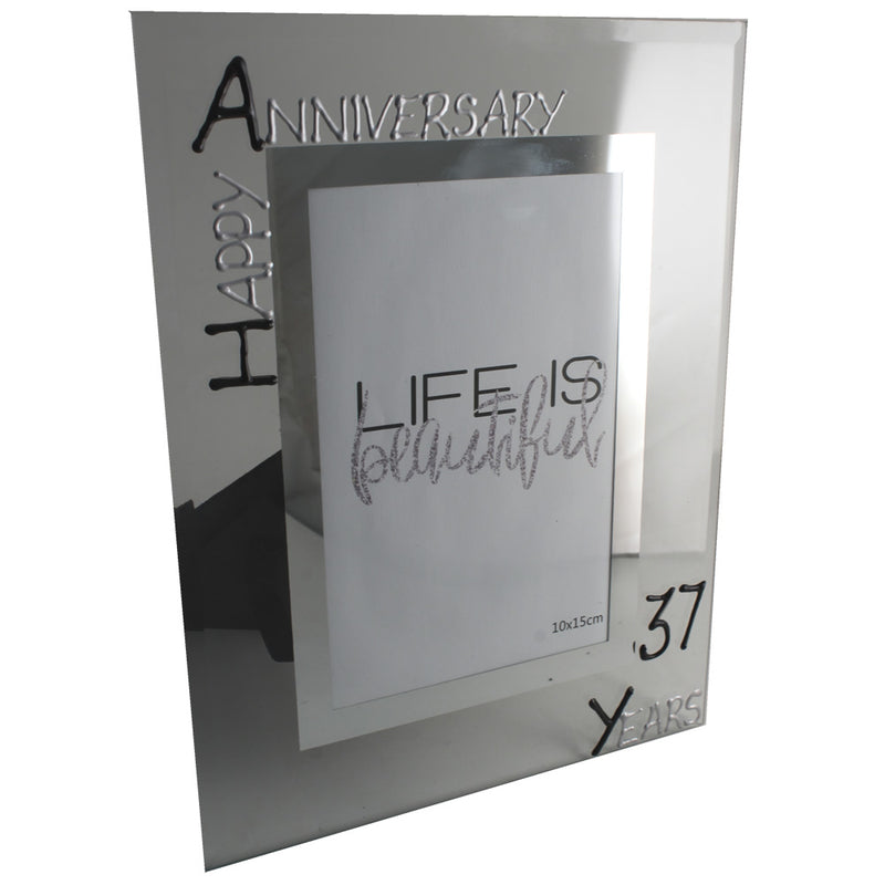 37th Wedding anniversary frame (Blk/Sil)