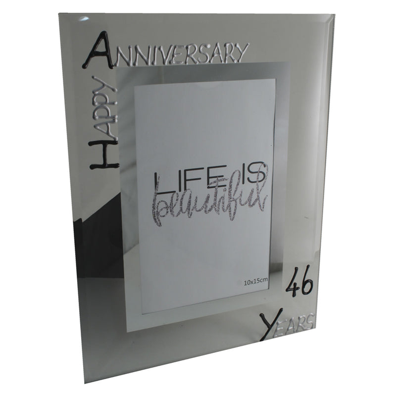 46th Wedding anniversary frame (Blk/Sil)