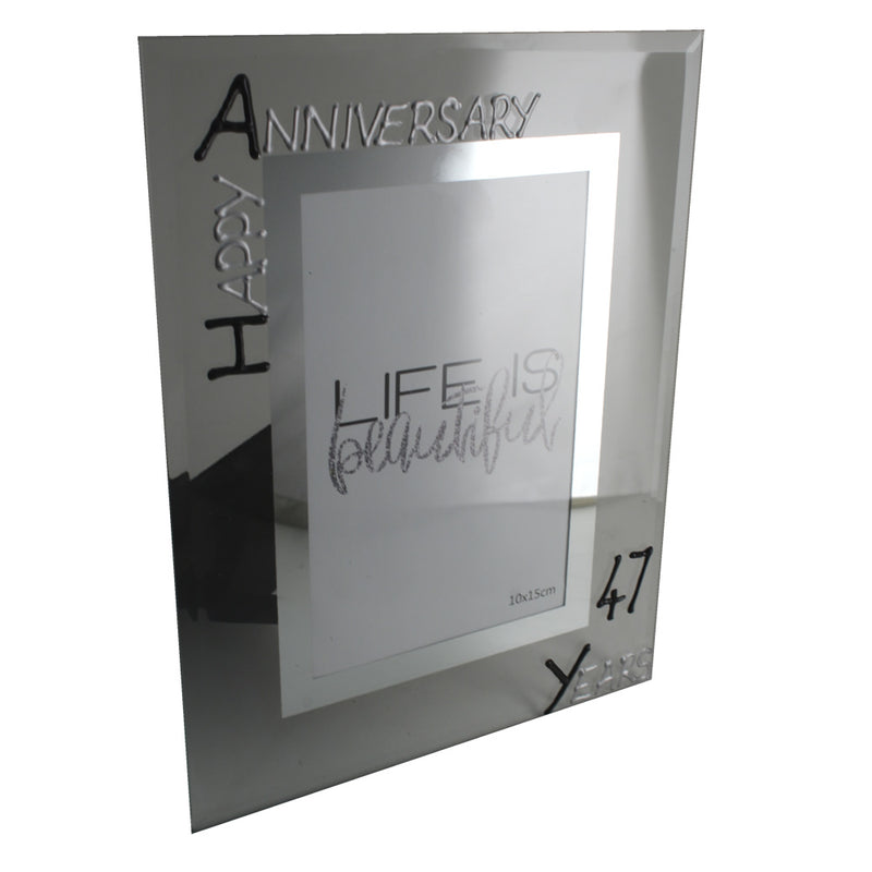 47th Wedding anniversary frame (Blk/Sil)