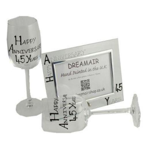 45th Wedding Anniversary Gift Set Blk/Sil