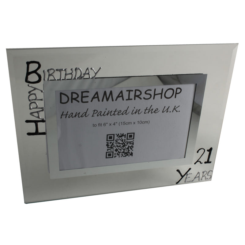 21st Birthday Photo Frame Land Blk/Sil