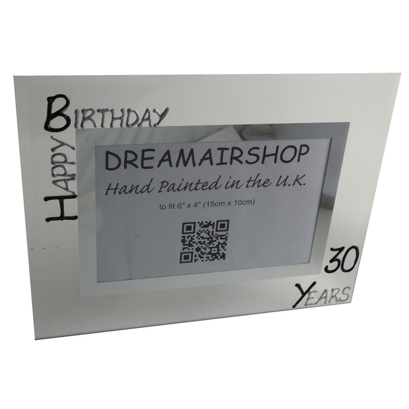 30th Birthday Photo Frame Land Blk/Sil