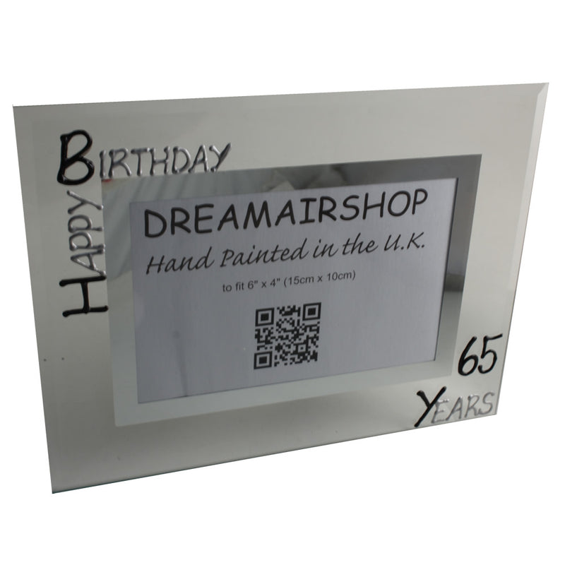 65th Birthday Photo Frame Land Blk/Sil