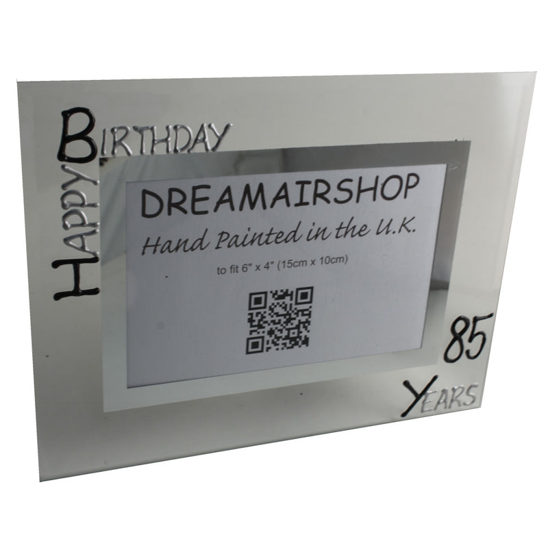 85th Birthday Photo Frame Land Blk/Sil