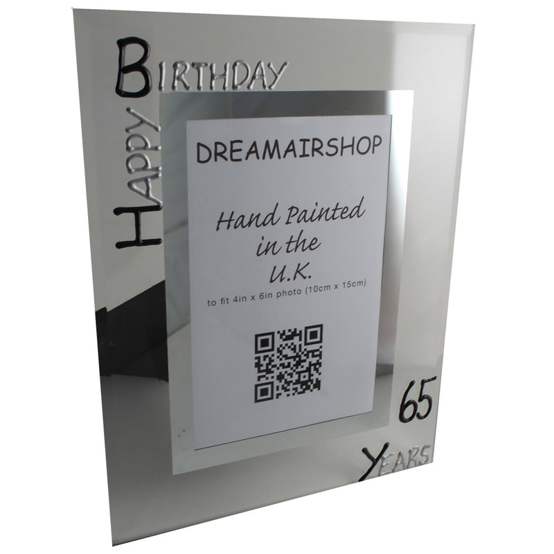 65th Birthday Photo Frame Port Blk/Sil