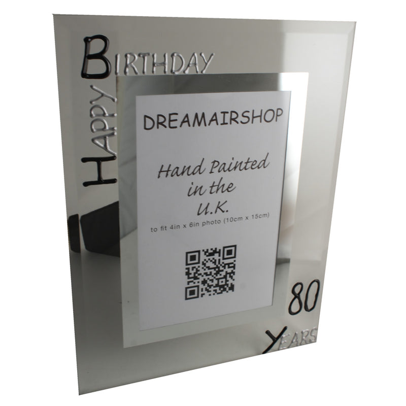 80th Birthday Frame (Blk/Sil)