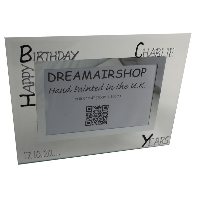 Personalised 18th Birthday Gift Photo Frame Landscape (Blk/Sil)