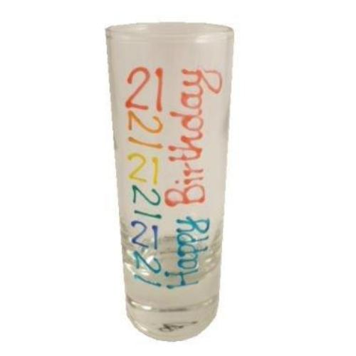 21st Birthday Gift Shot Glass