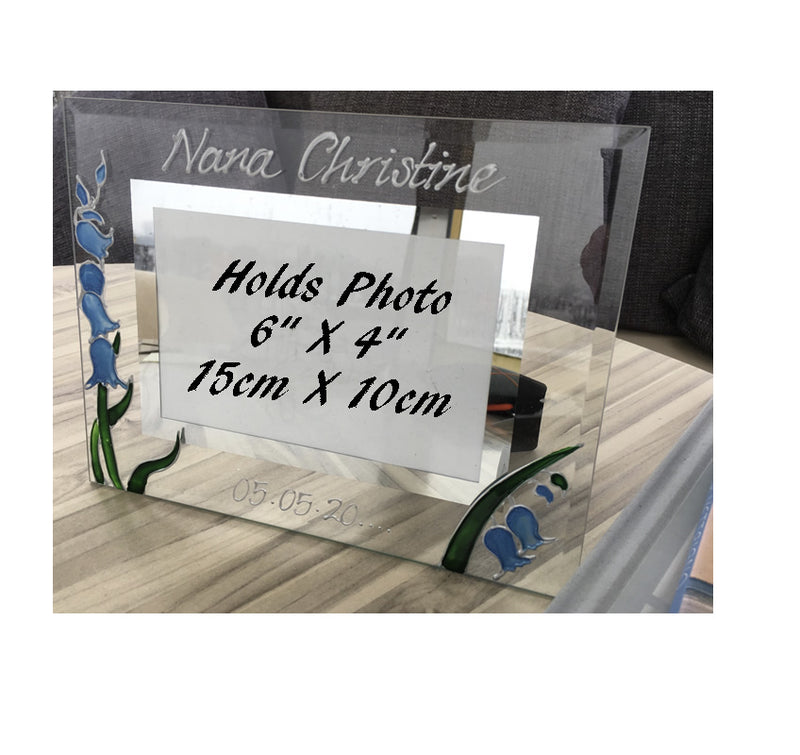 Personalised Bluebell Design Gift Photo Frame: Landscape