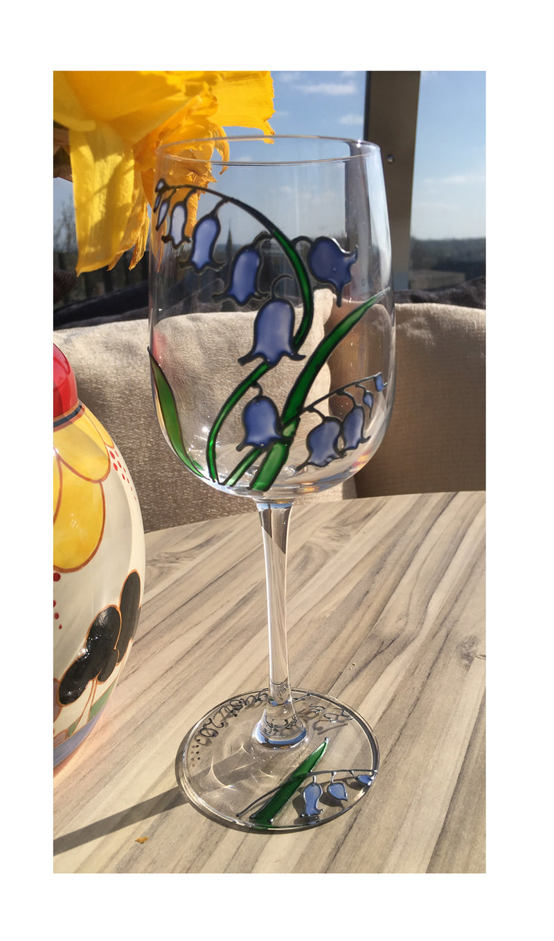 Bluebell Wine Glass