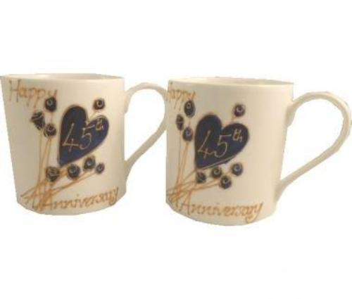 45th Wedding Anniversary Mugs Flower