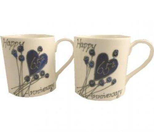 65th Wedding Anniversary Mugs Flower