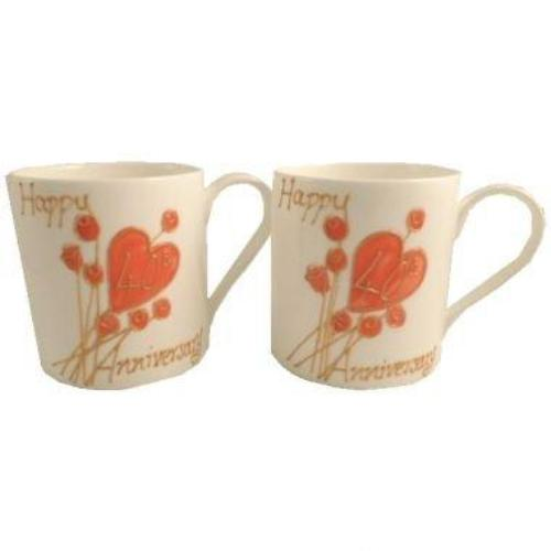 40th Wedding Anniversary Mugs Flower