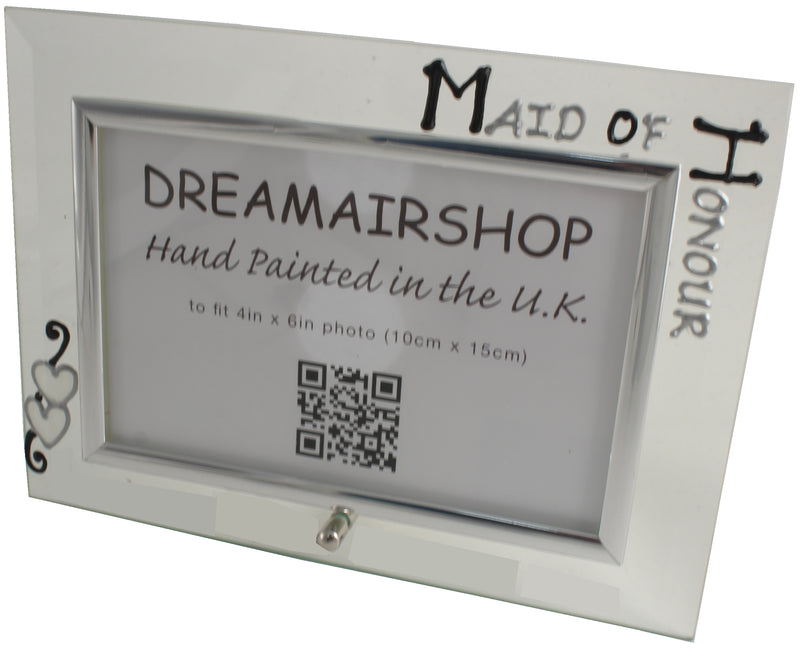 Maid of Honour Photo Frame Land Blk/Sil