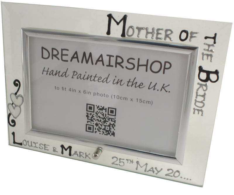 Personalised Mother of the Bride Photo Frame (Blk/Sil)