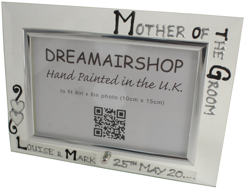 Personalised Mother of the Groom Photo Frame Land (Blk/Sil)