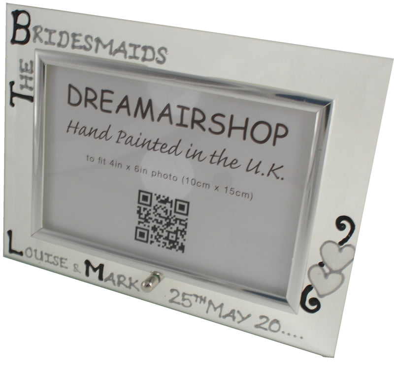 Personalised The Bridesmaid Photo Frame Land Blk/Sil
