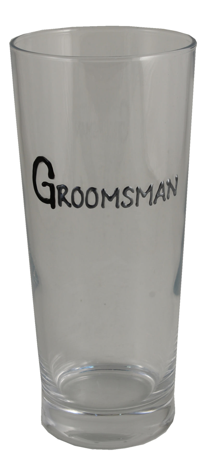 Groomsman Pint Glass (Blk/Sil)