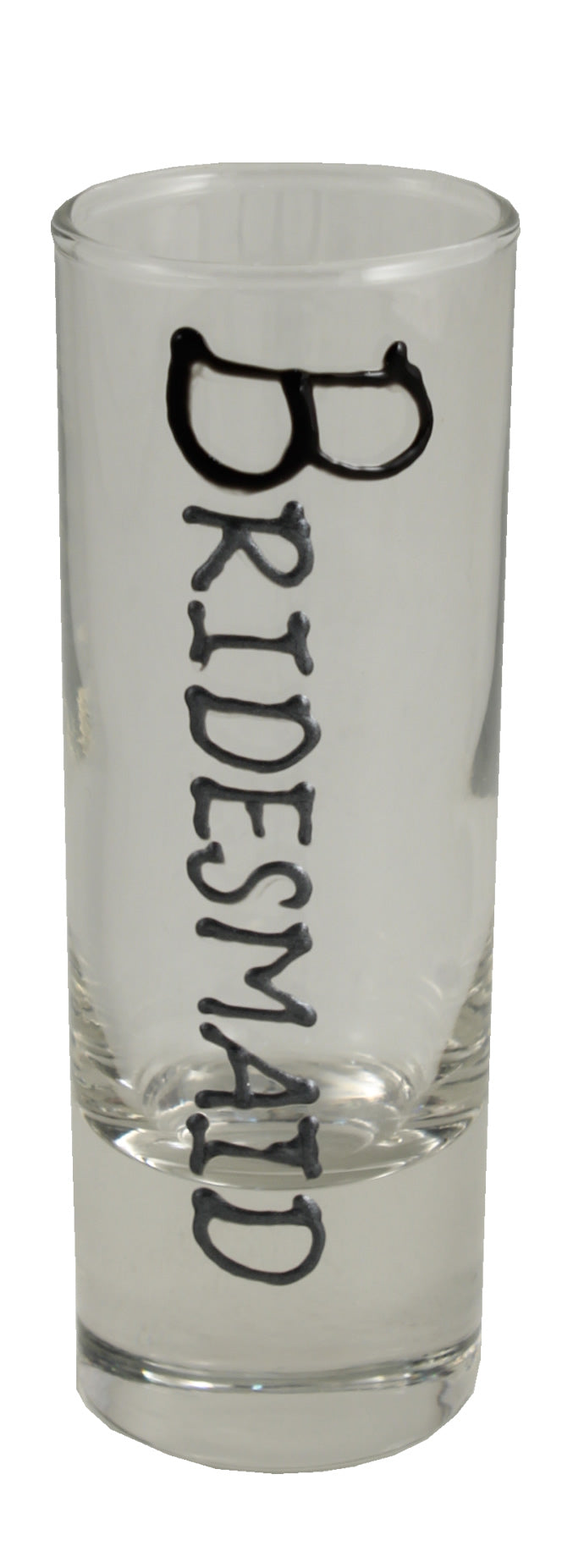 Bridesmaid Shot Glass (Blk/Sil)