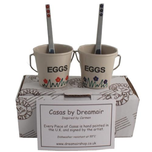 2 Egg Cup & Spoon Set Gift Box