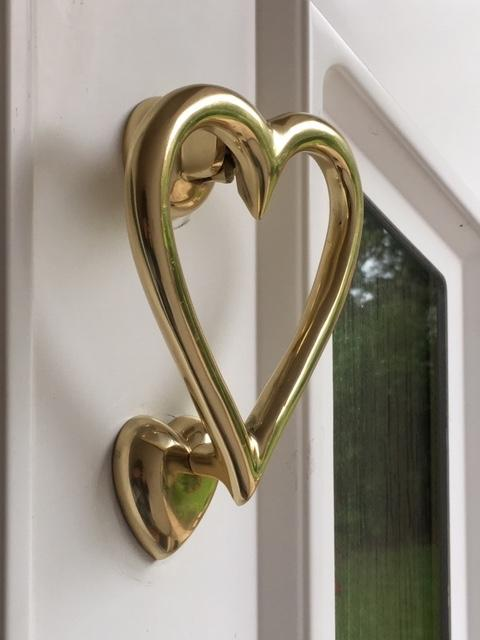 Heart Shaped Door Knocker (Brass)