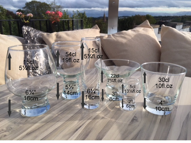 Personalised Wording Gift Whisky Glass: (Blue)