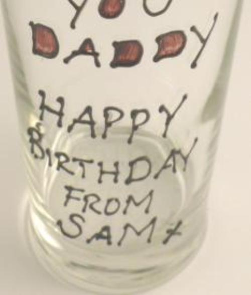 Personalised So Love You Daddy Pint Glass