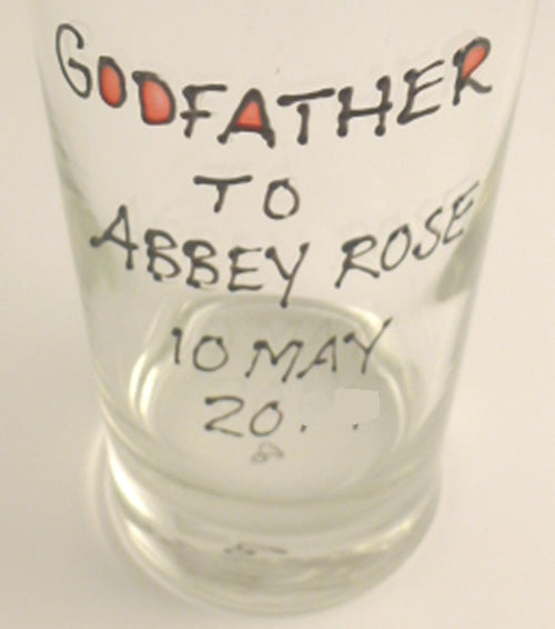 Personalised Godfather Pint Glass (Cami)