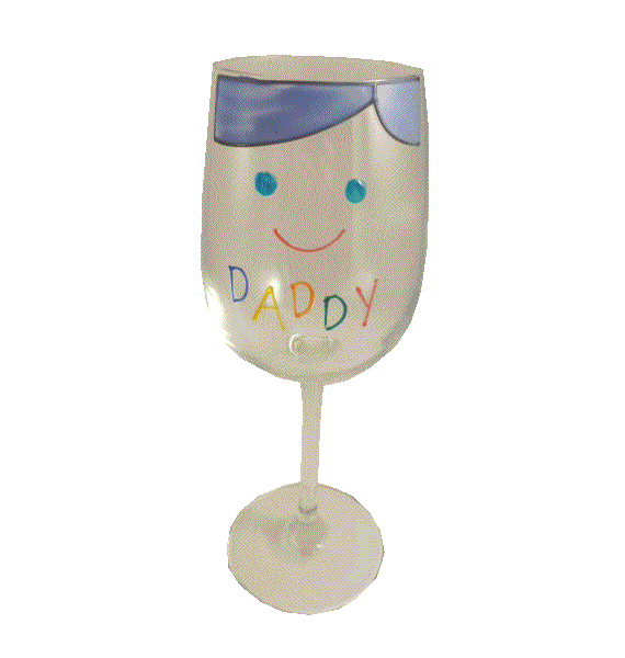 Daddy Design Gift Wine Glass: (Cami Brights)