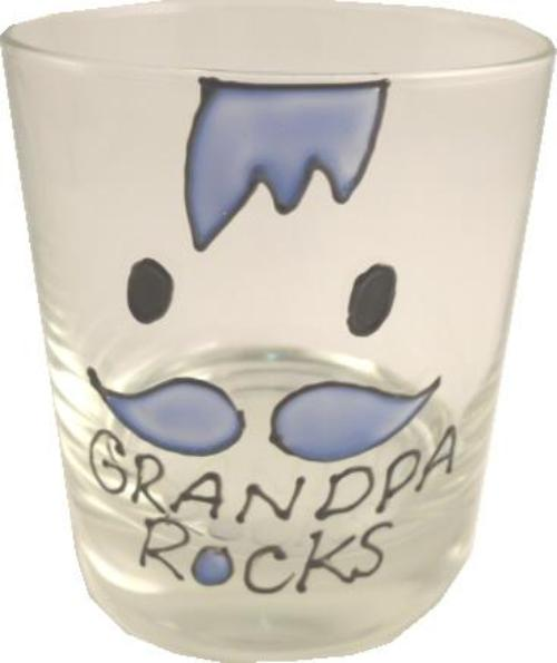 Grandpa Gift Rocks Whisky Glass: