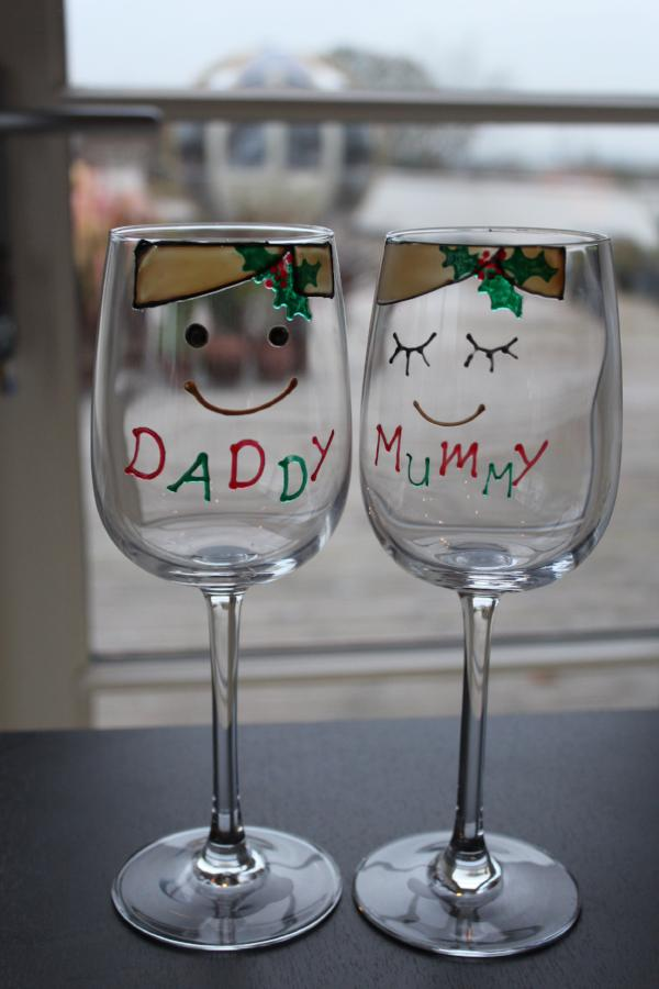 Mummy & Daddy Wine Glass (Xmas)