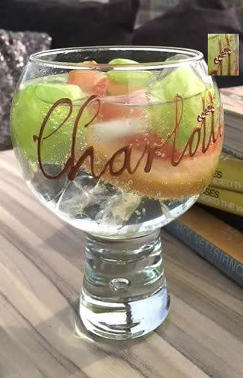Crystal Personalised Gin & Tonic Glass