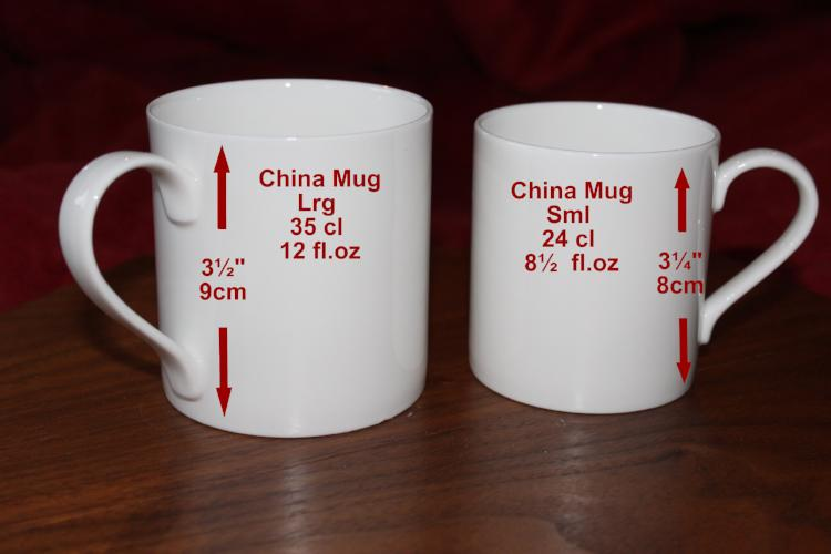 15th Wedding Anniversary China Mugs: (Blk/Sil)