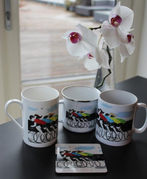 Personalised Cycling Ceramic Printed Mug:
