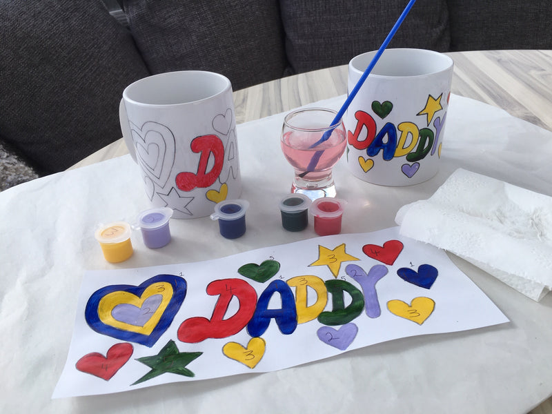 Paint by Numbers Mug daddy Craft Kit