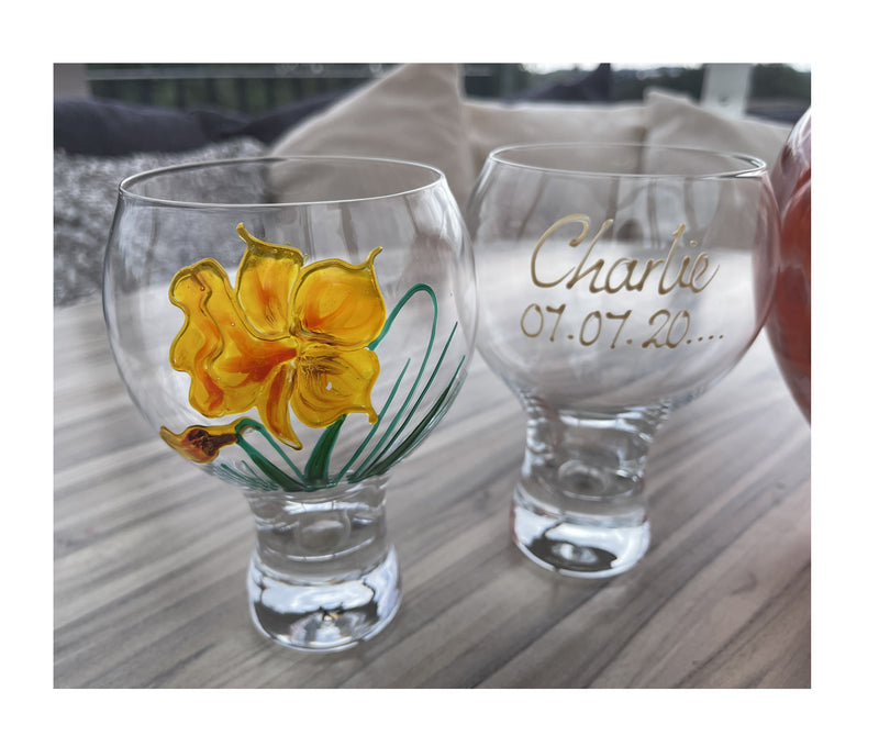 Daffodil Gin Drinking Glass