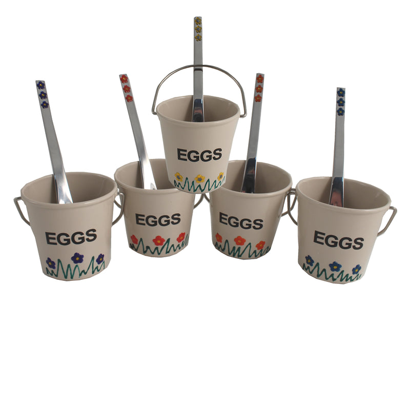 5 Egg Cup & Spoon Set