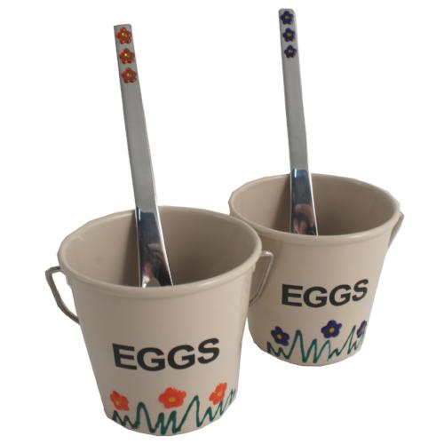 2 Egg Cup & Spoon Set