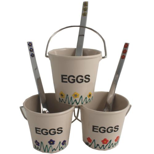3 Egg Cup & Spoon Set