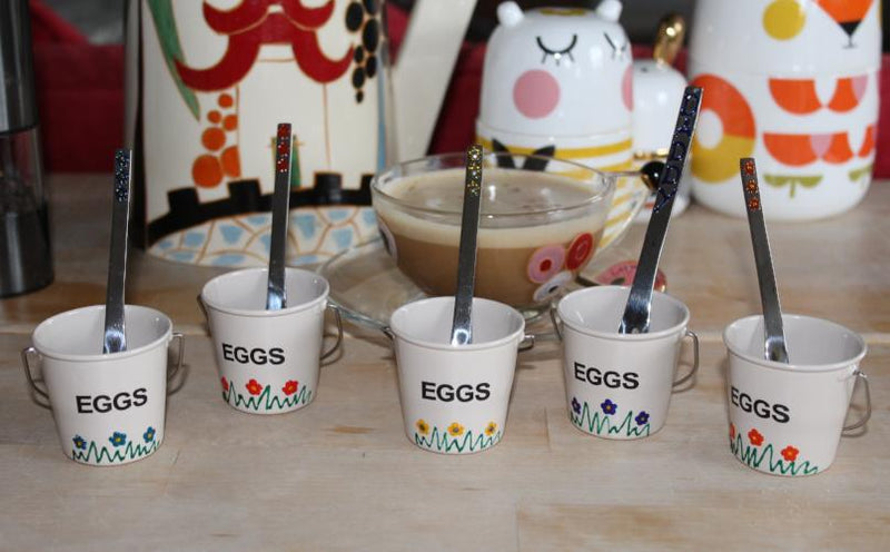 2 Egg Cup & Spoon Gift Set