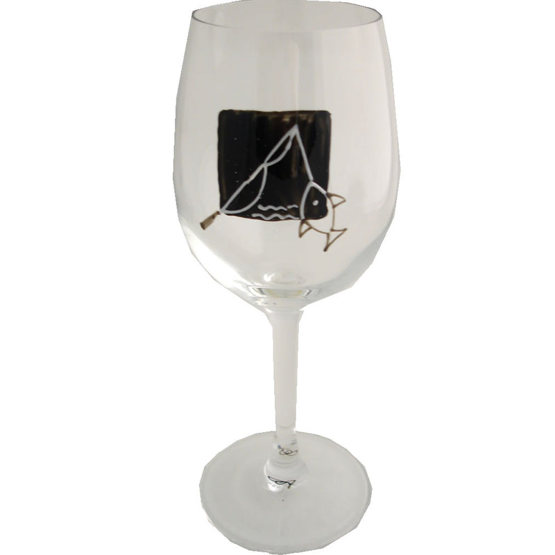Fishing Gift Wine Glass
